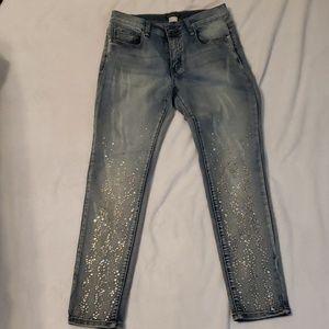 VENUS skinny leg sparkle Jean's